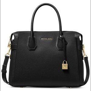 MICHAEL Michael Kors Mercer belted pebble leather